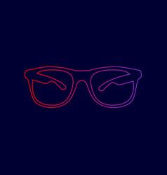Sunglasses sign line icon vector