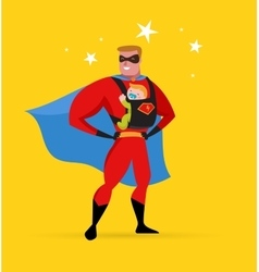 Superhero daddy superhero costume baby carrier vector