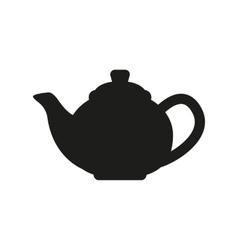 The teapot icon Tea symbol Flat vector image