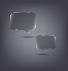 transparent speech bubbles on dark background vector image