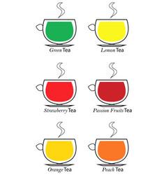 types of tea set vector image