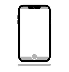Typical smartphone with space for your content vector