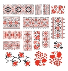 Ukrainian ethnic national seamless patterns vector image