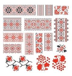 Ukrainian ethnic national seamless patterns vector