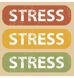 Vintage STRESS stamp set vector