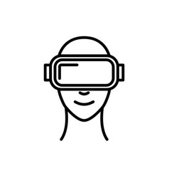 Virtual reality design icon vr glasses isolated vector