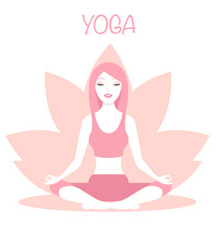 yoga logo - emblem design on vector image