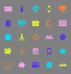 Businessman item color icons on gray background vector image vector image