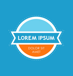 creative modern emblem vector image