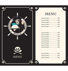 pirate menu vector image vector image