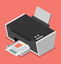 Printer flat style isometric vector image