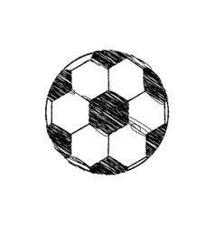 silhouette drawing soccer ball element sport vector image