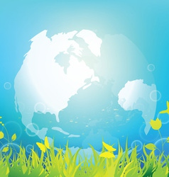 clean and fresh world vector image vector image