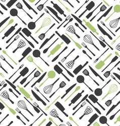 Kitchen Tools Pattern vector image vector image