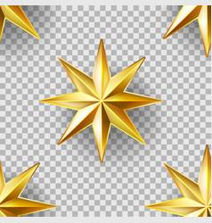 luxury stars seamless pattern vector image vector image