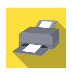 printer icon in flat style isolated on white vector image