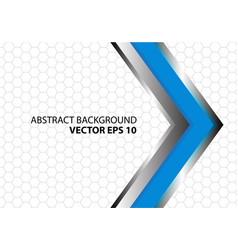 abstract blue metal arrow hexagon vector image