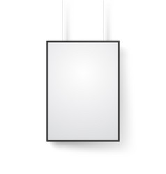 blank white frame on the wall mockup isolated on vector image vector image