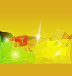 bright gold diamond lowpoly vector image