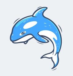 Grampus sea life vector image vector image