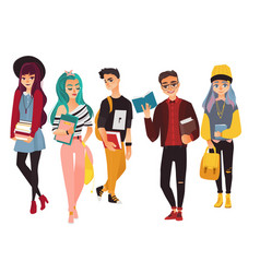 set of modern hipster college university vector image vector image