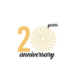 20 year anniversary firework template design vector