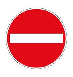 267 entry ban german road sign vector