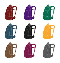 a portfolio of bicycles for carrying things behind vector image vector image