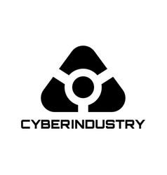 abstract futuristic logo sci fi icon vector image