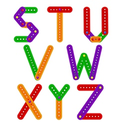 alphabet from constructor from S to Z vector image