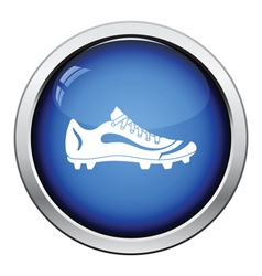 American football boot icon vector image