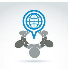 An international meeting Speech bubble w vector