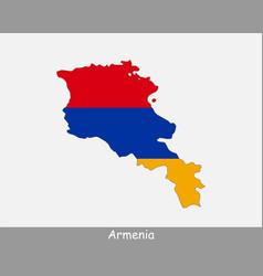 Armenia map flag vector