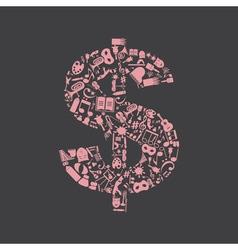 Art dollar vector image
