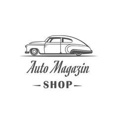 Auto shop logotype vector