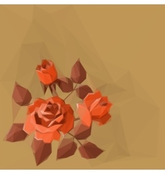 Background with Flower Rose vector image