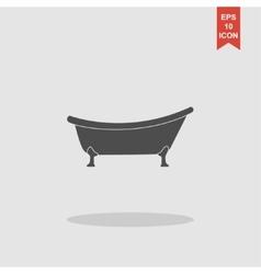 Bathtub Icon Flat design style vector