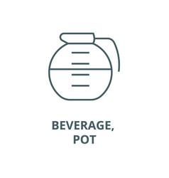 beverage drinks pot line icon beverage vector image