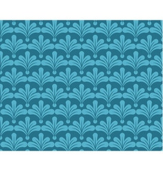 Blue retro wallpaper seamless background vector