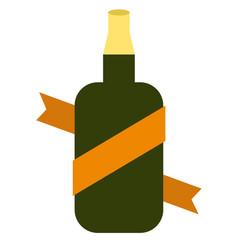 Bottle flat on white vector