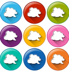 Buttons with cloud callout templates vector