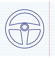 car driver sign navy line icon on vector image