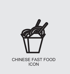 Chinese fast food icon vector