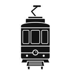 city tramcar icon simple style vector image