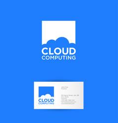 Cloud computing logo communication network vector
