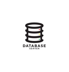 database graphic design template vector image