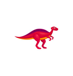 Dino cartoon prehistoric raptor animal vector