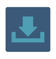 Download flat cyan and blue colors rounded button vector