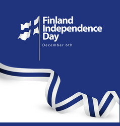 Finland independence day template design vector