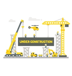 Flat design construction site sign vector
